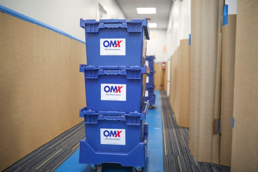 OMX moving crates