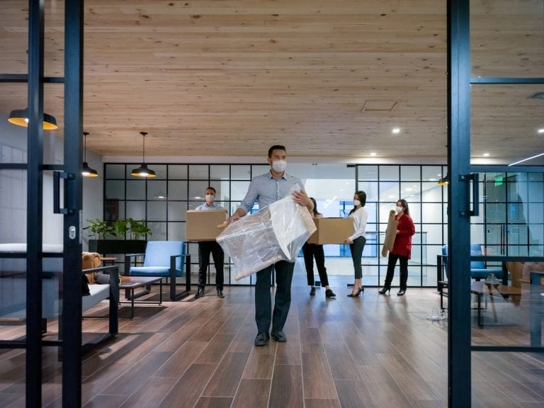 Employees moving offices during COVID