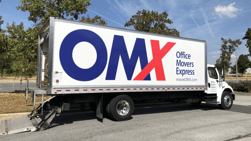 OMX moving truck