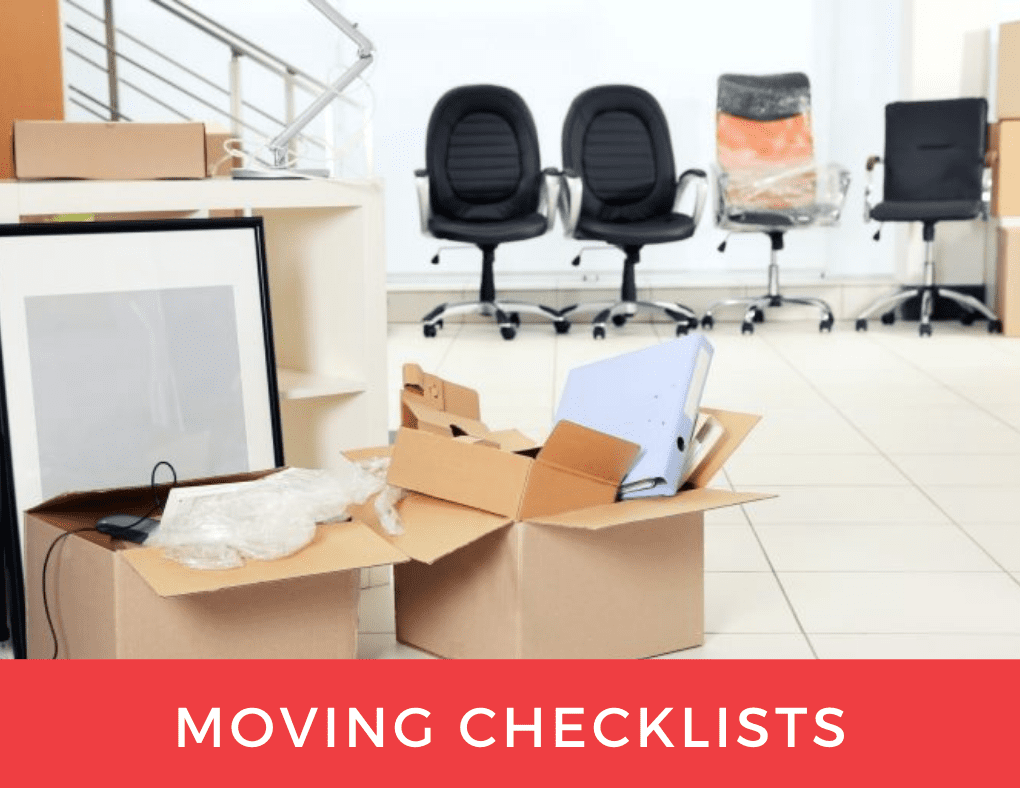 office with moving boxes