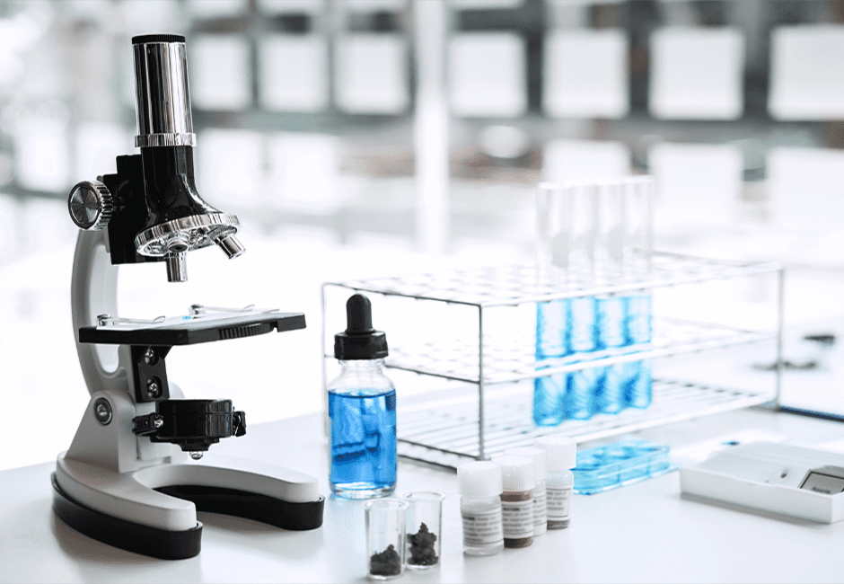 lab microscope and equipment